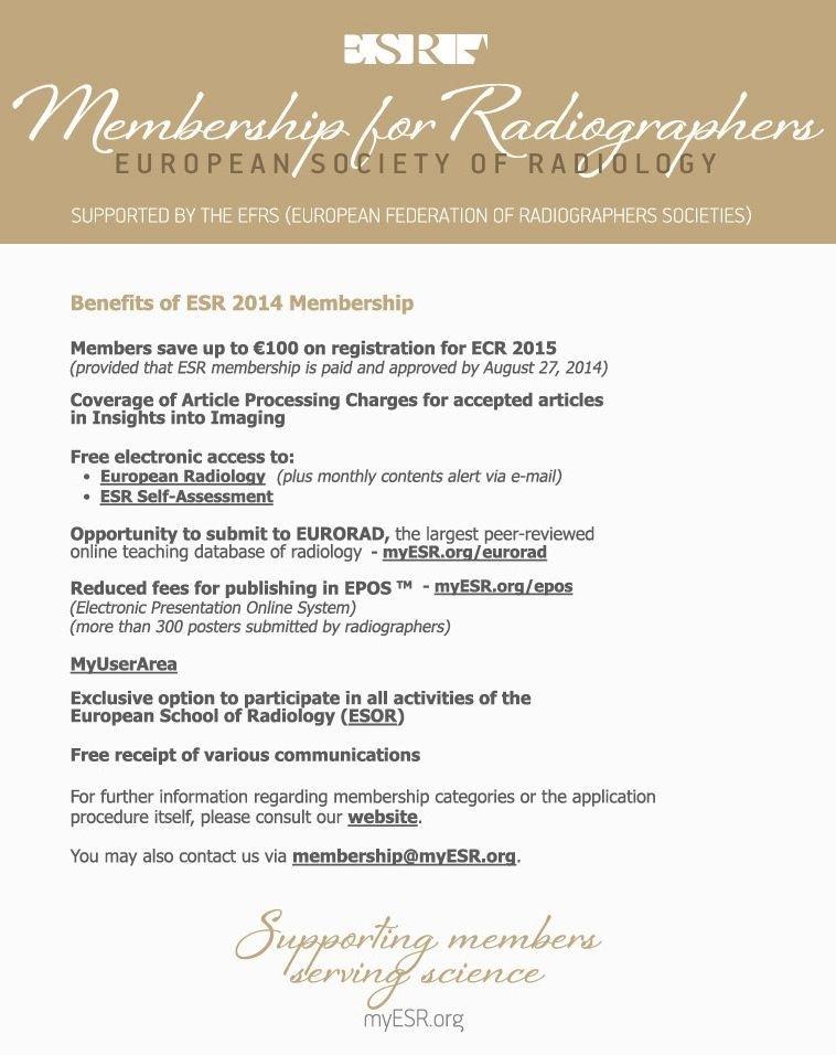 ESR Annual Membership